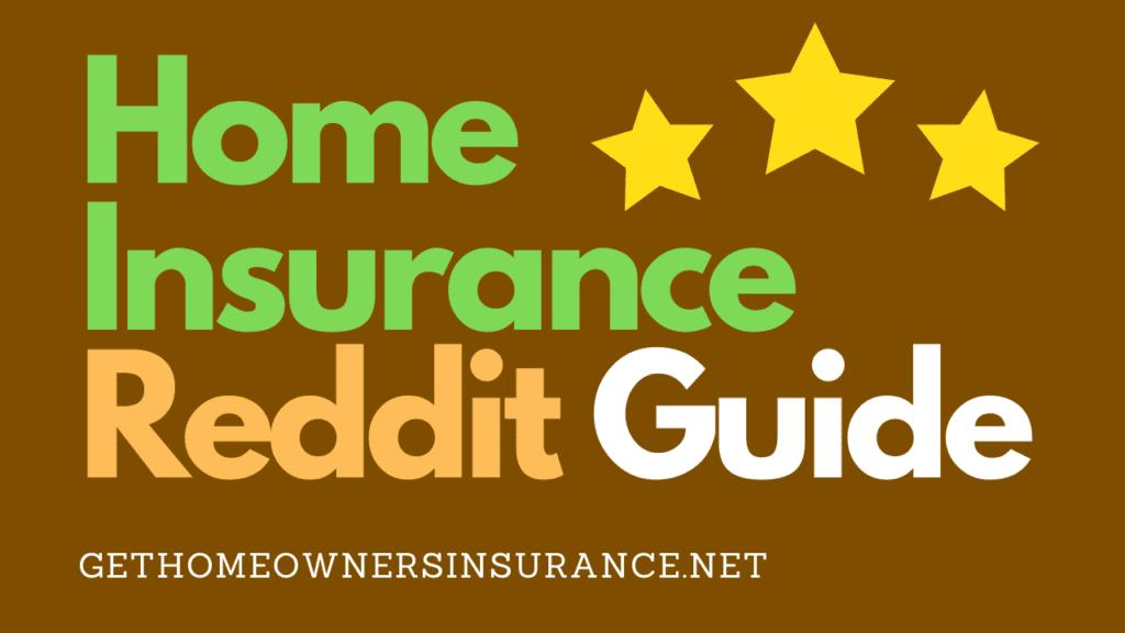 Home Insurance Reddit