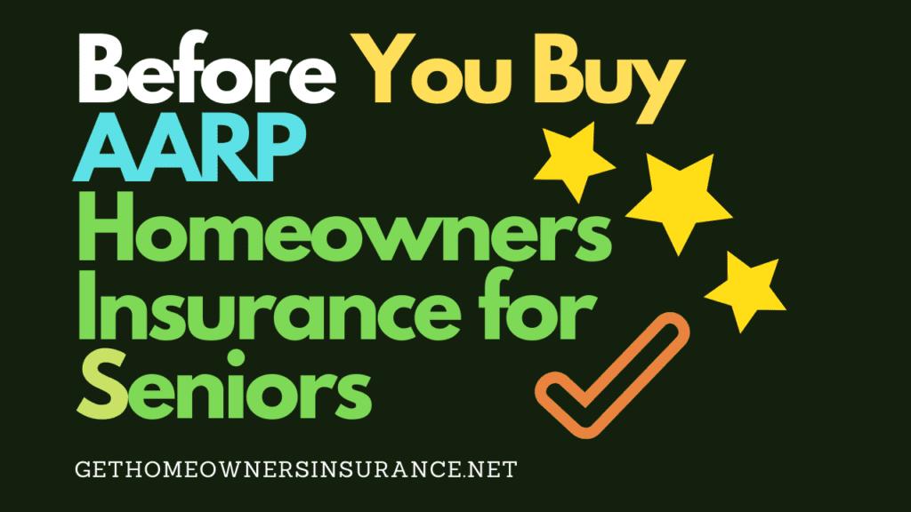 AARP Homeowners Insurance for Seniors