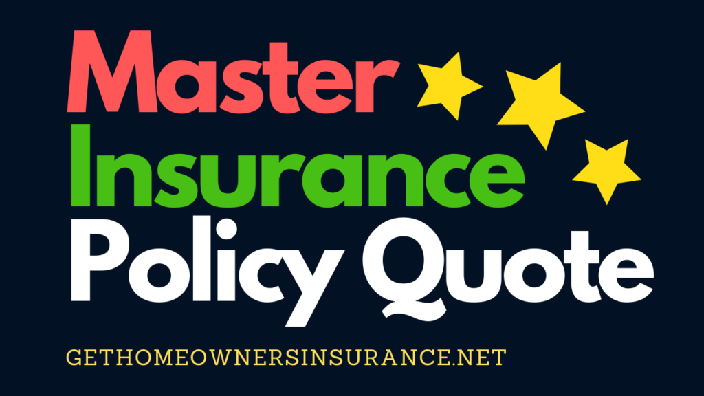 Master Insurance Policy